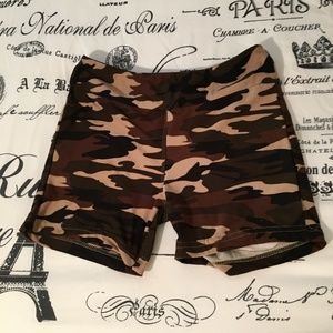 3 for $10 Sale: Girls' Soft Camo Bike Shorts